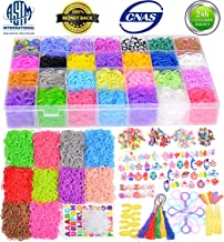 18700+ Rainbow Rubber Bands Refill Kits, 17760+ Loom Bands in 38 Colors, 600 Clips, 230 Beads, 56 ABC Beads, 54 Charms, 12 Backpack Hooks, 10 Crochet Hooks, 10 Rings, 5 Hair Clips, 5 Tassels.....