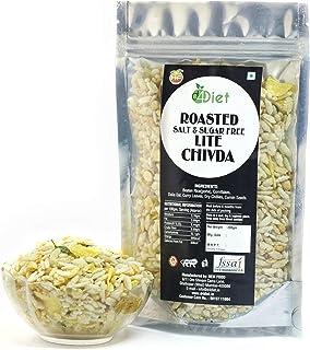 D4Diet Roasted Salt & Sugar Free Lite Chivda-Namkeen/ Roasted Snacks/ Healthy Snacks Pouch, 200 g