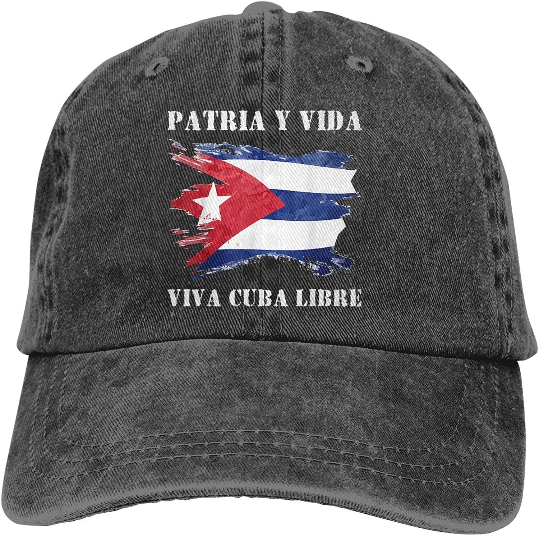 Patria Y Vida - Viva Cuba Libre Hat, Adjustable Vintage Baseball Cap Unisex Trucker Cap Dad Hat