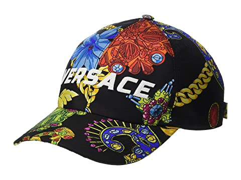 Versace Flower & Chain Print Baseball Hat