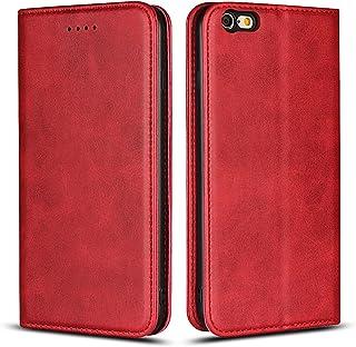 Copmob Funda iPhone 6s Plus,Funda para iPhone 6 Plus, Funda Cuero Premium Carcasa Case Soporte Plegable, Ranuras para Tarjetas y Billetes,Cierre Magnético para iPhone 6s Plus/6 Plus - Rojo