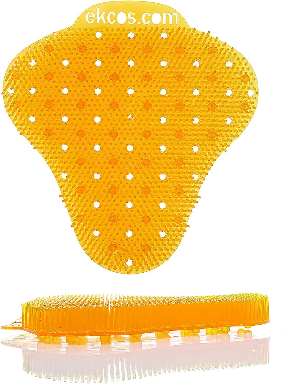 Diversey ekcoscreen 60 Day Premium Anti-Splash Urinal Screen, 7  x 7  orange Citrus (12 Pack)