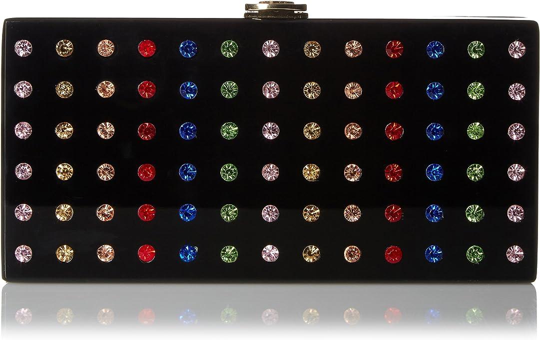 MILLY womens 91BC61267 Rhinestone Box Clutch