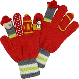 Kidorable Fireman Knit Kids Gloves