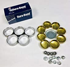 Durabond Cam Bearings & Elgin Brass Freeze Plug Set compatible with 1964-2003 Chevy sb 327 307 302 283 267 (Brass Block Plugs)