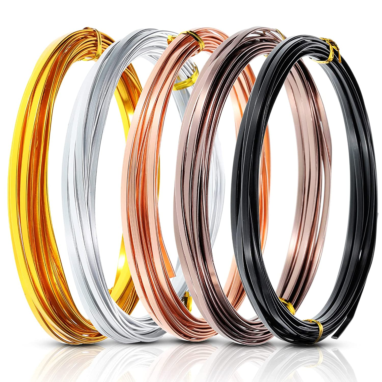 Super sale period limited 5 Roll 82 Feet Flat Aluminum Wire Wide 3 Jewelry Popular Metal Craft mm