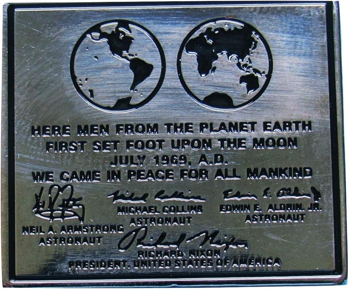 Amazon.com: Apollo 11 luna placa solapa Pin oficial edición Nasa Buzz Armstrong  Armstrong: Everything Else