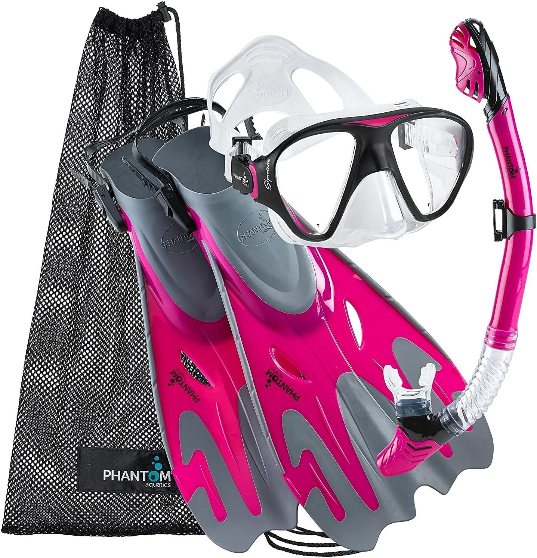 Phantom Aquatics New Shipping Price reduction Free Snorkel Mask Fin Swim with Set Gear Snorkeling