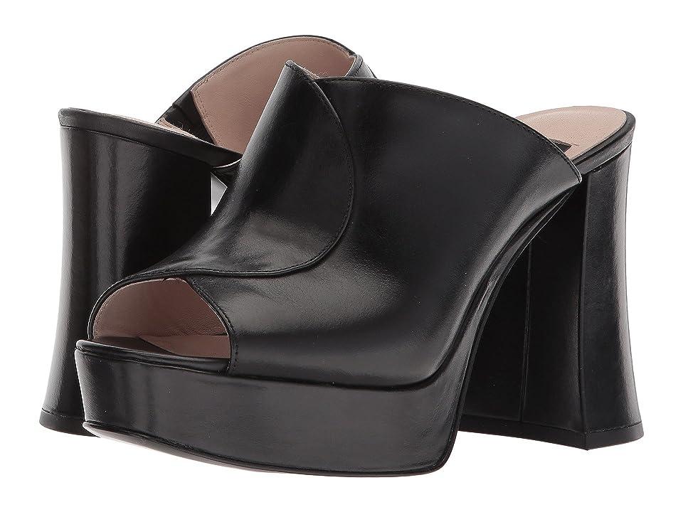 Nine West Lisana 40th Anniversary Platform Slide Heel (Black Leather) Women