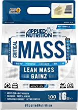 Applied Nutrition Critical Mass Protein Powder High Mass Gainer Serious Weight Gain Supplement with BCAA HMB Glutamine Leucine Creatine 6kg – 40 Servings Vanilla Estimated Price : £ 49,99