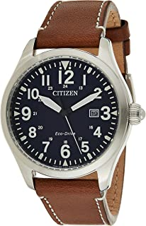 CITIZEN Mens Solar Powered Watch, Analog Display and Leather Strap - BM6838-33L