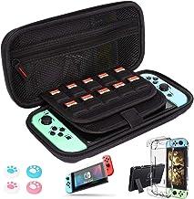 Estojo de transporte Nintendo Switch + 2 peças de protetor de tela de vidro temperado, capa rígida protetora portátil GIM ...