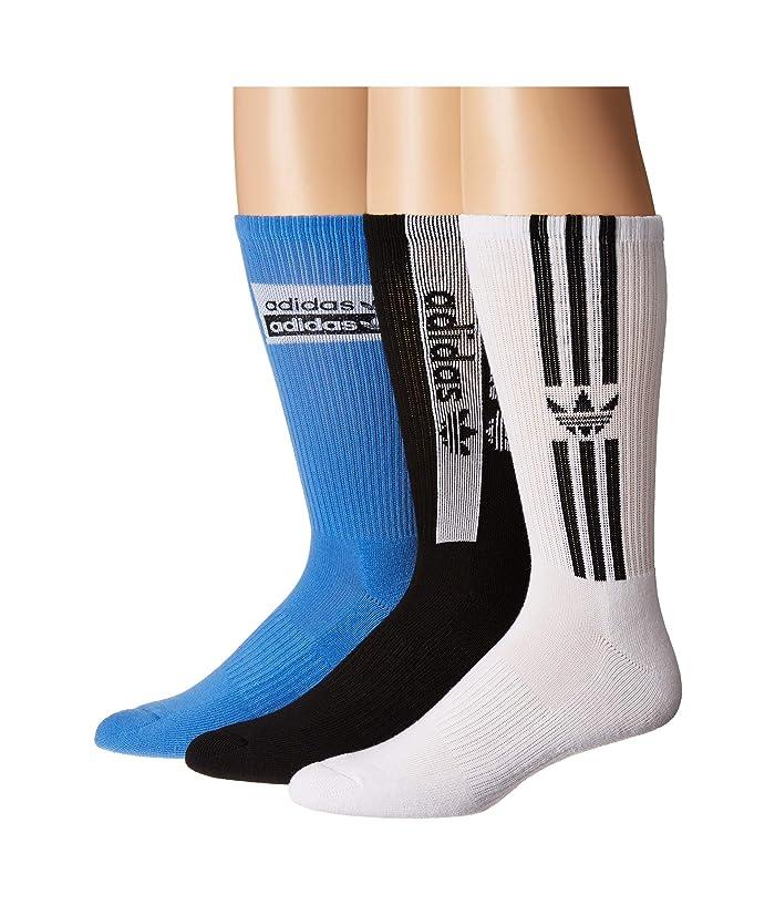 6166fcc2a6 adidas Originals Originals Stacked Forum 3-Pack Crew Socks | Zappos.com