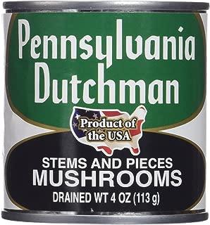 Pennsylvania Dutchman Canned Mushrooms - 12/4 oz. cans
