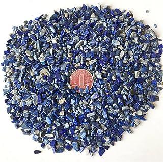 AITELEI 1 lb Natural Lapis Lazuli Crushed Stone Healing Reiki Crystal Irregular Shaped Stones Jewelry Making Home Decoration