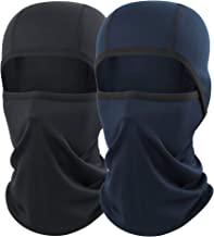 AXBXCX 2 Pack or 1 Pack Balaclava - Breathable Face Mask Windproof Dust Sun UV Protection