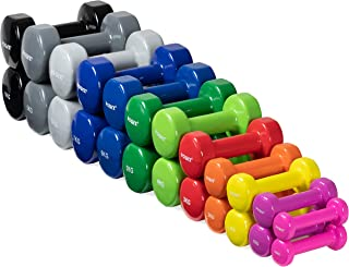 POWRX vinylhantlar par I Hantlar vikter idealiska för fitness gymnastik aerobics Pilates 0,5 kg - 10 kg I hanteluppsättnin...