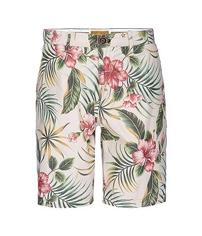 Nifty Genius Morgan Bermuda Shorts in Hawaiian Print (Cream) Men