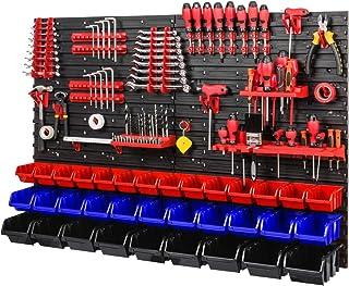 Gereedschapswand stapelboxen 1152 x 780 mm - opslagsysteem SET gereedschapshouders en 34 stuks doos - wandrek werkplaatsre...