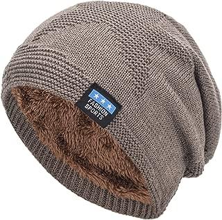 EASTER BARTHE Men Warm Winter Beanie Hat Fleece Lined Knit Beanie Hat Skull Cap Ski Hat