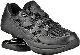 Z-CoiL Pain Relief Footwear Women's Freedom Slip Resistant Black Leather Tennis Shoe