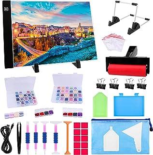Ratukall 184PCS Light Pad for Painting Diamond، A4 Diamond Art Light Board، Tracing Light Box with 5D Painting Set Set for Drill Full