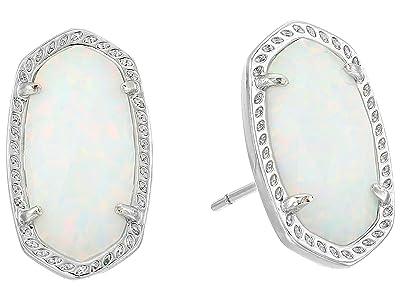 Kendra Scott Ellie Earring (Rhodium/White) Earring