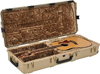 SKB Injection Molded Acoustic Guitar Case-TSA Latches, with Wheels-TAN (3i-4217-18-T)