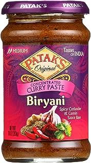 Pataks Curry Paste - Concentrated - Biryani - Medium - 10 oz - case of 6 - - - - - -