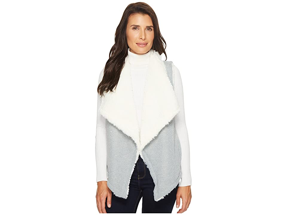 Mod-o-doc Sweater and Faux Fur Reversible Vest (Falcon) Women