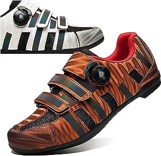 DSMGLRBGZ Chaussures de Cyclisme, (36-47) Été Respirante Semelle en Caoutchouc, avec Boucle Tournante Lacets, pour Homme F...