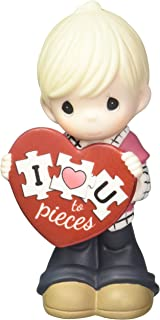 Precious Moments I Love You Topiece Bisque Porcelain Figurine Boy 163002