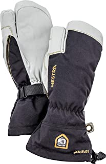 Hestra Army Leather Gore-TEX - Waterproof, Long-Cuffed 3-Finger Snow Glove for Skiing and Mountaineering