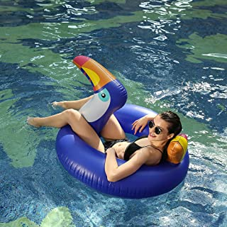 DIYurfeeling Giant Toucan Inflatable Pool Float,2018 Summer Swim Ring Lounger Inflatable Float Ride-On Floaties Party Toys Kids Adults