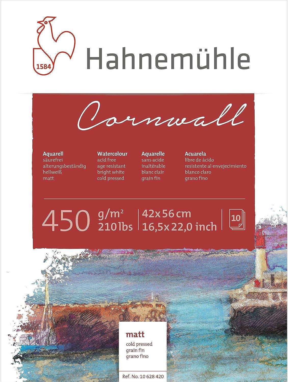 Aquarellblock Cornwall matt 450g m², 42x56cm, 10Blatt B00511CT34  | Ab dem neuesten Modell