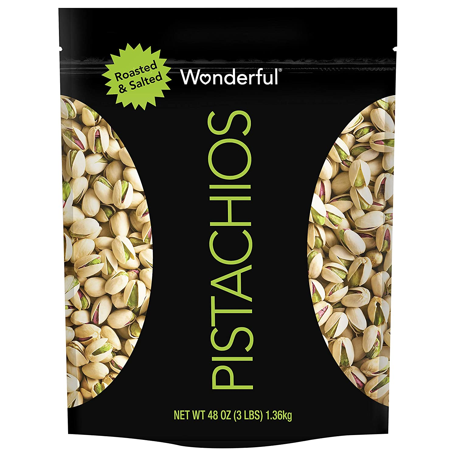 Wonderful Pistachios New Houston Mall Free Shipping Resealable Bag 48 Oz Salted Roasted
