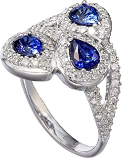 Effy 14K White Gold Sapphire & Diamond Ring, 1.86 TCW
