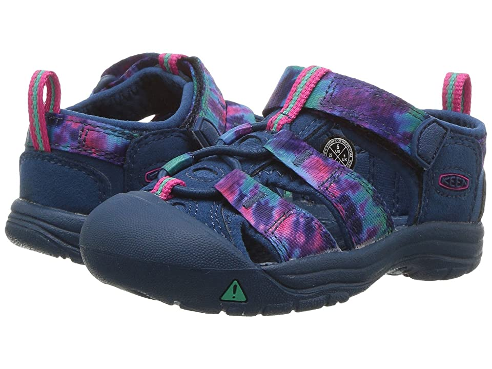 Keen Kids Newport H2 (Toddler) (Navy Tie-Dye) Girls Shoes