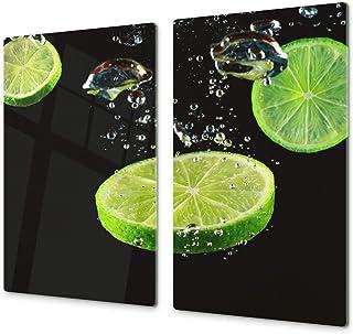 comprar comparacion Tabla de cocina de vidrio templado - Tabla de cortar de cristal resistente – Cubre Vitro Decorativo – UNA PIEZA (60 x 52 c...