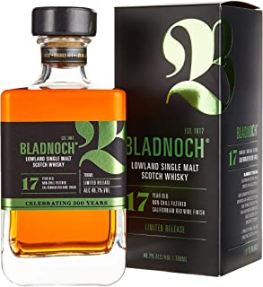 Bladnoch 17 Years Old Lowland Single Malt Scotch Whisky Whisky 1 x 0.7 l