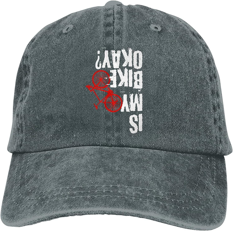 Garitin is My Bike Okay Mountain Bike Hats Baseball Cap Men Women Washable Adjustable Cotton Trucker Cap