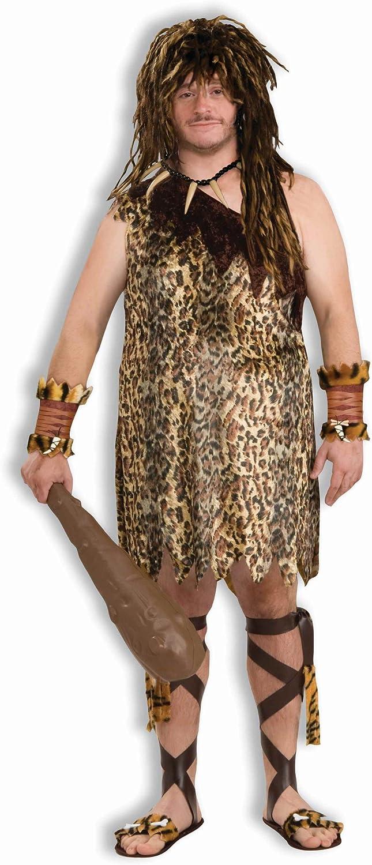 Macho Caveman Tarzan Prehistoric Jungle Cave Stone Age Mens Costume Plus