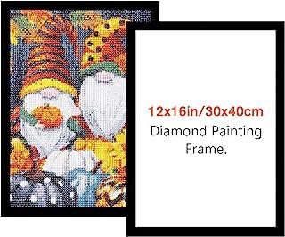 قاب نقاشی الماس NAIMOER ، قاب برای بوم نقاشی الماس 12x16in/30x40cm ، قاب هنری الماس مغناطیسی لوازم جانبی هنر چسبنده الماس ، قاب درب پنجره دیوار (سیاه)