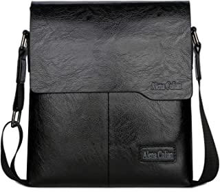 Alena Culian Shoulder Bag Business Man Bag Messenger Bag for Men Crossbody  Bag(black) 18d0fd0d111