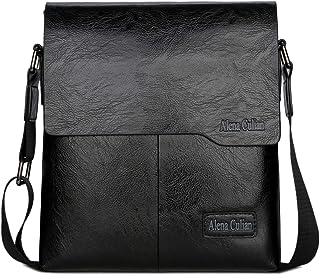 Alena Culian Shoulder Bag Business Man Bag Messenger Bag for Men Crossbody  Bag(black) f46c5693bcf