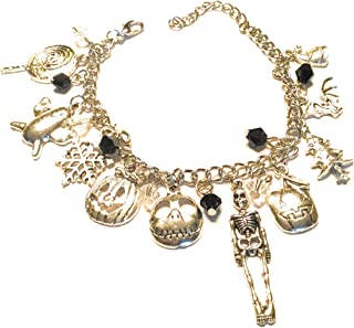 Ivy & Clover Jack and Sally Nightmare Christmas Inspired Charm Bracelet