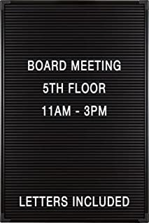 Balt Essentials Black Letter Board with Letters 12