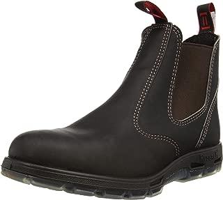 Men's Bobcat UBOK Dark Brown Elastic Sided Soft Toe Leather Work Boot