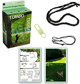 Tumbo Tugger Exercise Dog Toy - (Hanging Bungee Rope tug Toy) ENTERTAINS Your Dogs w/Energetic, Interactive Solo Play tug or war Action