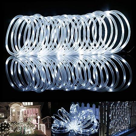 LED Außen Lichtschlauch Solar Panel Partylicht Licht Lichterkette Kette Lichter